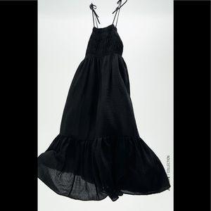Zara tied textured dress.